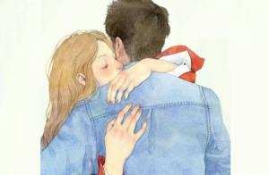 拥抱是无声的语言,方式不同有深意